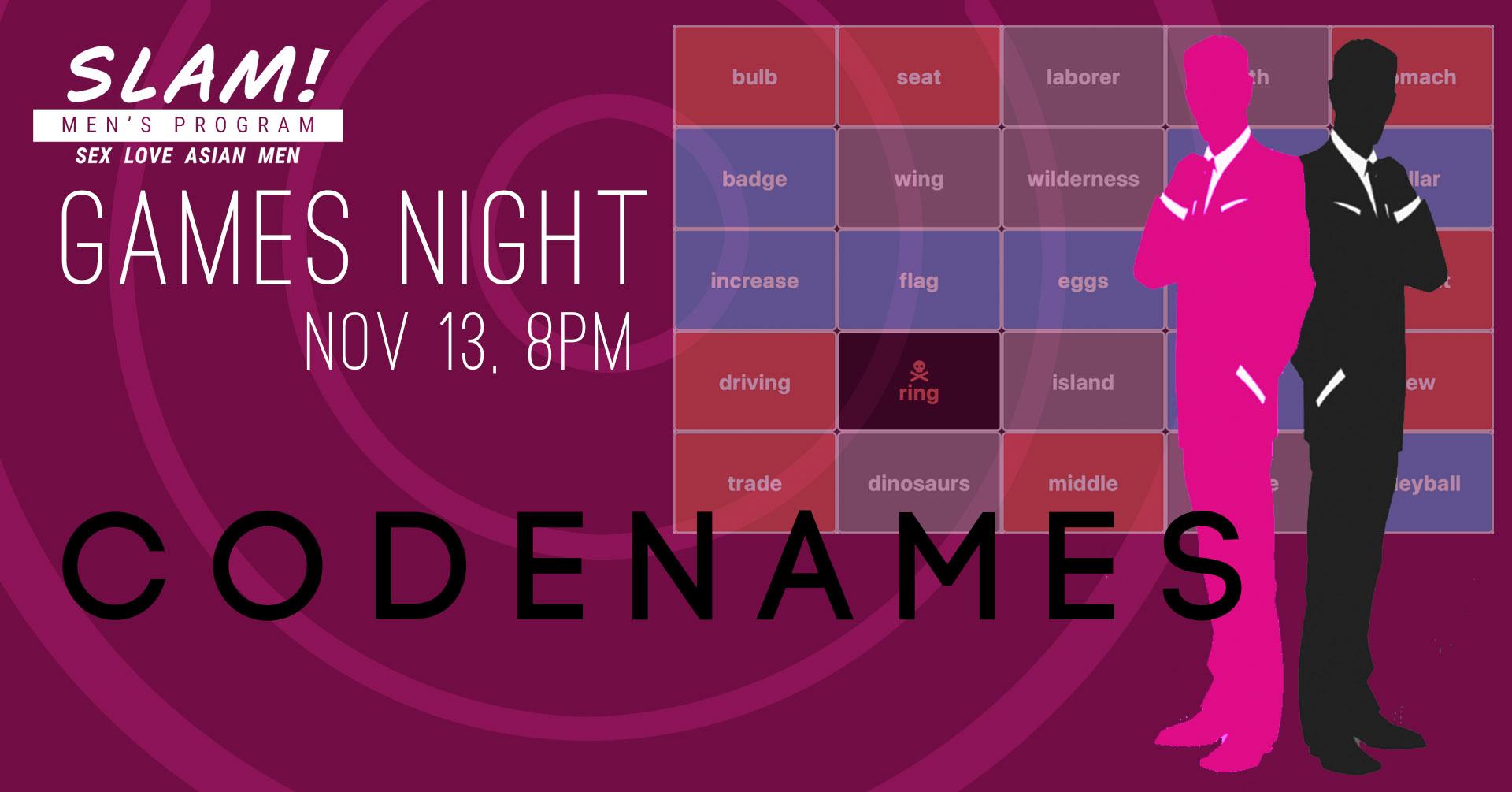 poster for slam games night november 13
