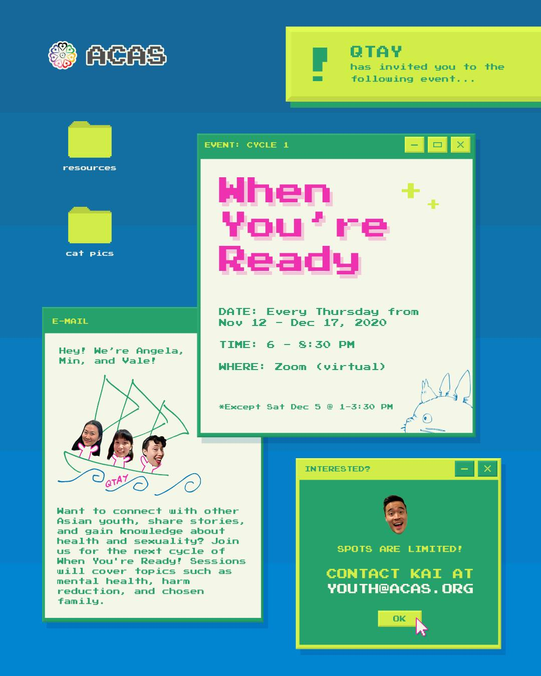 poster for queer asian youth when you're ready cycle 1
