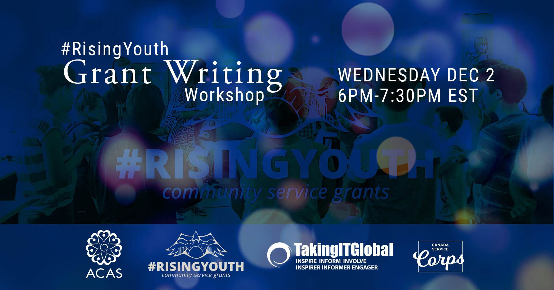 Poster for Rising Youth Grant Writing Workshop