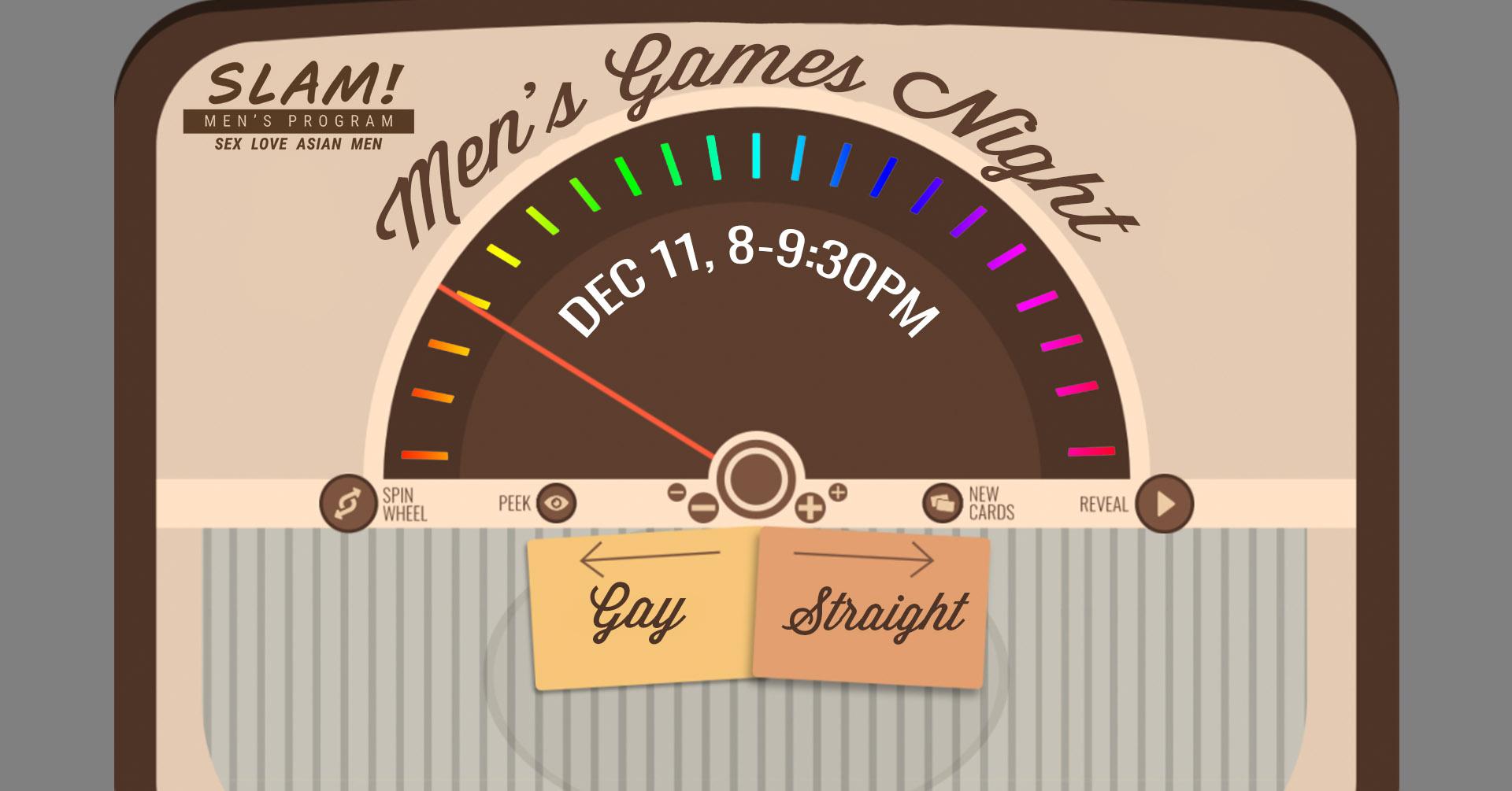 poster for men's games night