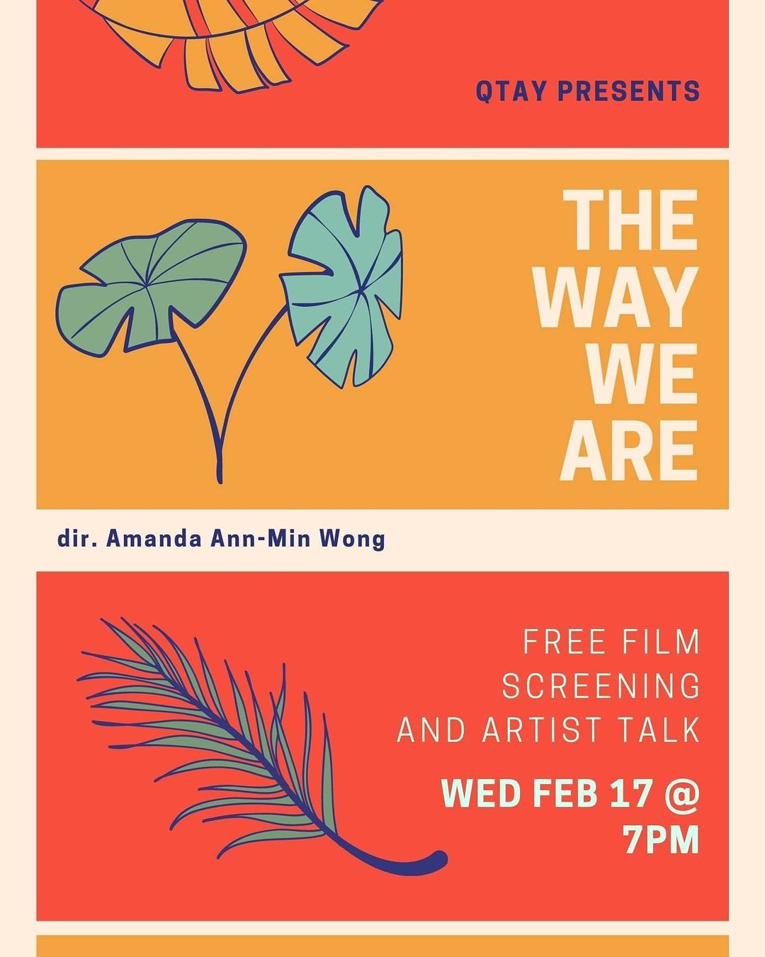 Poster for youth program screening of The Way We Are