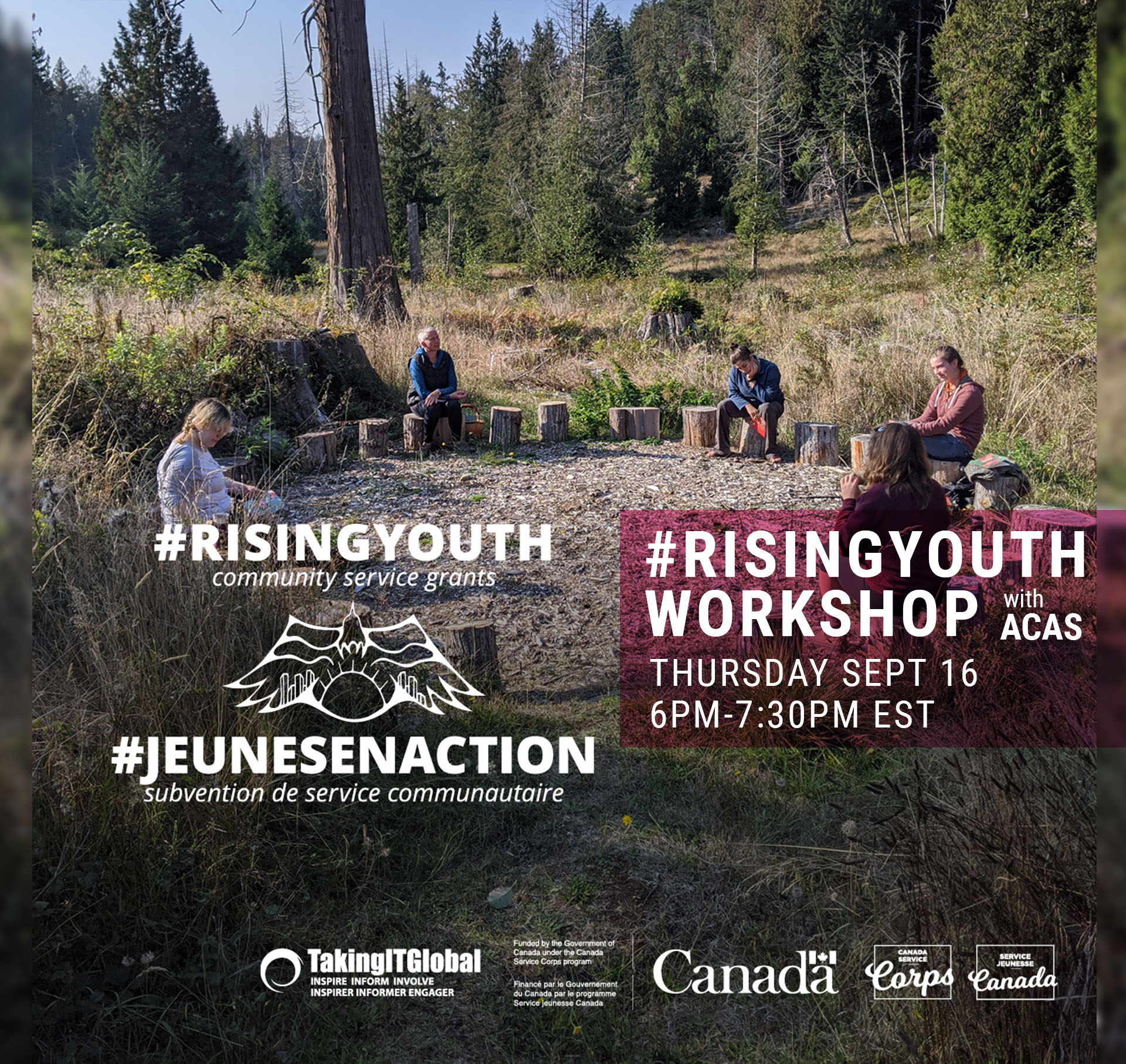 poster for Rising Youth workshop